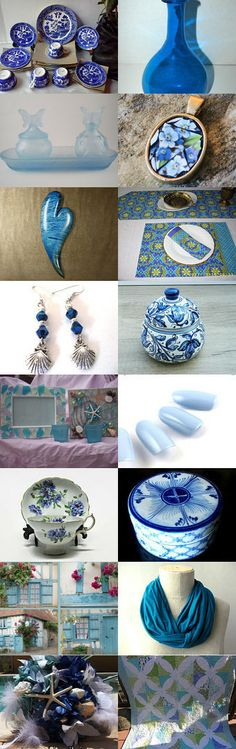 Oh my, BLUES... by Jennifer on Etsy--Pinned with TreasuryPin.com