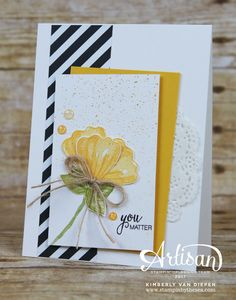 This card I created today using the Bunch of Blossoms stamp set from Stampin' Up! is perfect to let others know they matter. Create a card and send it!