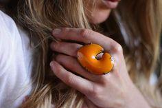 enamel tangerine ring #SephoraColorWash