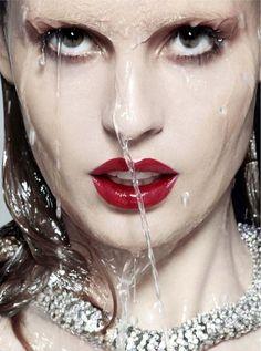 Nadja Bender: Numero - Hot #redlips #water #photography