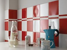 I was thinking of this for my kitchen (black and white) but this red is very cool.