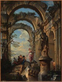 Ruins with Sybil (1731).Giovanni Paolo Panini...