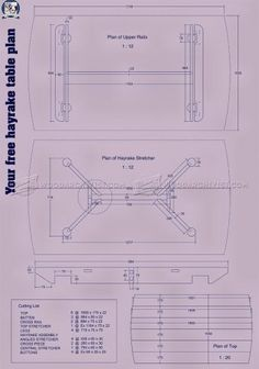 #2250 Hayrake Table Plans - Furniture Plans