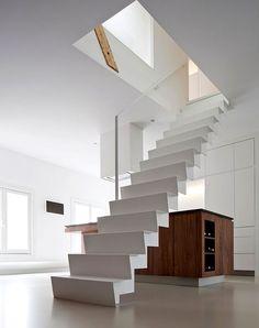 ladder in white