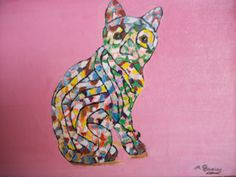 Autor :Manoli Tapias  Titulo:  Gato de Gaudi          Técnica: óleo lienzo a pincel y arena Medidas: 30 X 20  Soporte: Lienzo sobre bastidor madera  http://arttapias.blogspot.com.es/