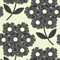 Orla Kiely Giant Rhododendron Wallpaper - 110412 ($66) ❤ liked on Polyvore featuring home, home decor, wallpaper, grey, gray pattern wallpaper, pattern wallpaper, retro floral wallpaper, floral home decor and retro home decor