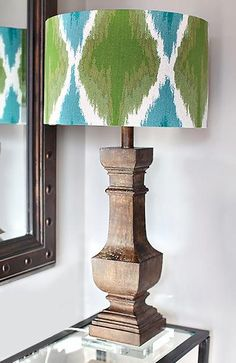 Take any old lamp from drab to fab with this Upcycled DIY Fabric Lampshade
