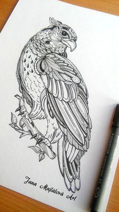 Drawing by Jana Majlátová Art zentagle, marker