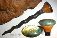 Quattro Hair Sticks 'Naturals' Shillelagh - Labradorite by quattro on Etsy