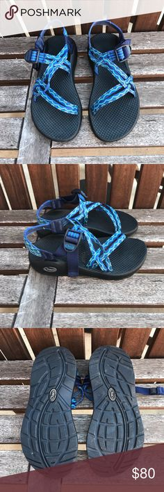 ZX 1 classic double strap NO TOE Double-strapped polyester jacquard webbing upper wraps around the foot and through the midsole for a customized fit Adjustable and durable high-tensile webbing heel risers Injection-molded ladder lock buckle.                                   Gently used Chaco Shoes Sandals