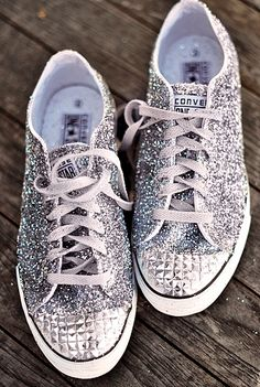 studded + sparkled converse sneakers