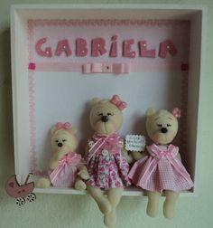 porta maternidade ursas em biscuit.  contato: arteira_2010@hotmail.com