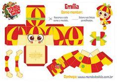 Personagens do sítio do Pica-pau-amarelo para imprimir, recortar, montar e brincar   Clique na imagem para fazer o download dos bo...