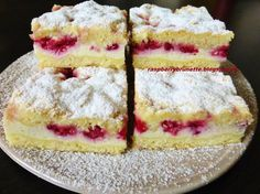 Raspberrybrunette: Simple cheesecake with fruit Czech Recipes, Russian Recipes, Healthy Dessert Recipes, Baking Recipes, Yummy Treats, Yummy Food, French Desserts, Pastry Cake, Sweet Cakes