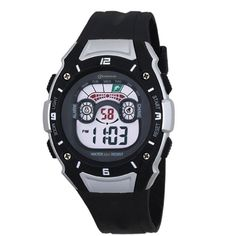 Sport Digital Kids Watch for Boys Stopwatch. Japanese quartz movement, high-grade material. Watch band length: 9.2 inches. Great gift for your children, convenient for life. Date, day, month, second, minute, hour displaying, alarm, chronograph function. Recommended age: from 3 to 10 years old.