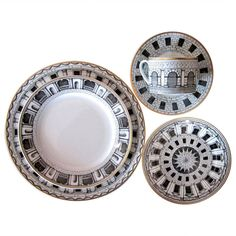 Massive Service of Fornasetti for Rosenthal Dinnerware, Palladiana | From a unique collection of antique and modern serving pieces at https://www.1stdibs.com/furniture/dining-entertaining/serving-pieces/