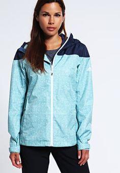 Bestill adidas Performance Hardshell jacket - vapour steel/mineral blue for kr 1195,00 (10.08.16) med gratis frakt på Zalando.no