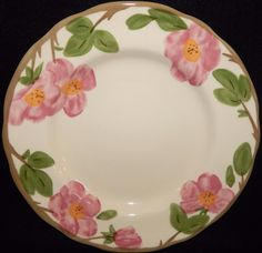 Franciscan DESERT ROSE Lot of 2 Dinner Plates Made in England Circa 1995, Pink Roses, Dinnerware, Excellent Condition A 60 dollar value by libertyhallgirl on Etsy $31.99 for 2 plates