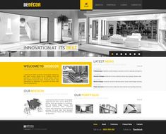 black and yellow web design - #web #design