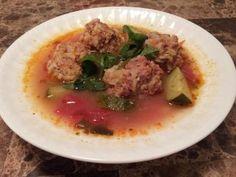 Homemade albondigas soup I made tonight.  So good!