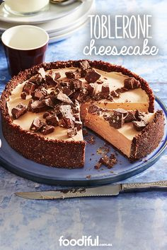 Vary your chocolate cake experience by creating this amazing cheesecake with toblerone! Totally worth the wait for a longer recipe. Yum! This recipe is ready to eat in 8 hrs 30 min and serves 10.