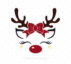 Rentier mit Elf Hut Svg-Dateien – Reindeer with elf hat svg files – Christmas Vinyl, Christmas Projects, Holiday Crafts, Christmas Time, Christmas Design, Christmas Quotes, Christmas Tree Stencil, Christmas Tree Silhouette, Reindeer Silhouette