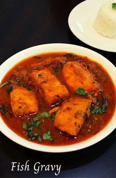 masala fish gravy recipe, fish recipes - Yummy Indian Kitchen #fishrecipes #fishcurry #fishgravy #seafood #salmon #fish #salmonrecipes
