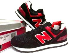 #NB #NewBalance 574 Black/Red