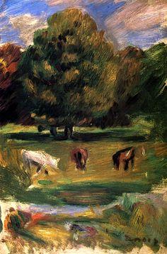 Landscape with Horses Pierre Auguste Renoir