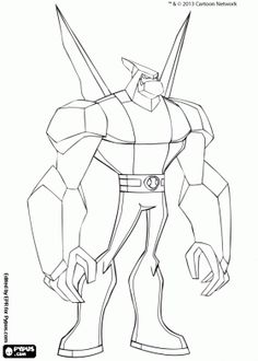 Diamondhead from Ben 10 Omniverse coloring page
