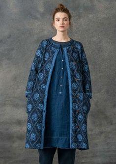 Brokad coat in wool/eco-cotton Modest Fashion, Boho Fashion, Womens Fashion, Long Knit Cardigan, Sweater, Gudrun, Swedish Fashion, Simply Fashion, Boucle Jacket