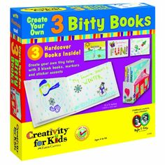 Create Your own 3 bitty books. Read more at http://www.toys-zone.com/create-your-own-3-bitty-books/