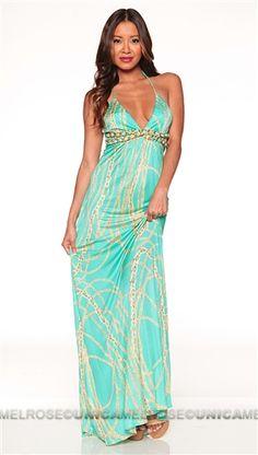 Sky Mint Pallavi Long Dress