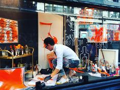 Great to see the @cointreau_officiel at work in the @libertylondon windows today. #DreamDareCreate - Thanks to james_barley32 via instagram.