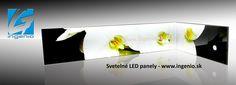Kitchen splashback with LED backlight