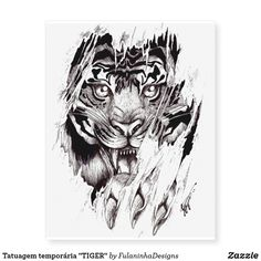 "Shop Temporary tattooing ""TIGER "" Temporary Tattoos created by FulaninhaDesigns. Tattoos For Women On Thigh, Neck Tattoo For Guys, Half Sleeve Tattoos For Guys, Upper Arm Tattoos, Back Tattoo Women, Side Tattoos, Back Tattoos For Guys Upper, Shoulder Tattoos For Men, Circle Tattoos"