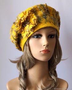 Mustard Flowers, Hand Gloves, Toe Socks, Felt Hat, Flower Making, Winter Hats, Texture, Felting, Projects