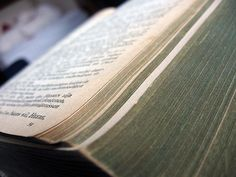 Pages of old Bible