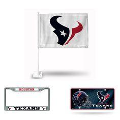 Houston Texans NFL 3 Piece Auto Fan Pack