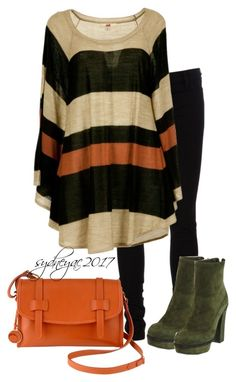 """""""Orange & Green & Cream"""" by sydneyac2017 ❤ liked on Polyvore featuring Ann Demeulemeester, Ochre Blue and Marni"""