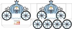 Cinderella Carriage Shaped Free Printable Box.