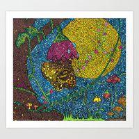 Art Print featuring The Butterfly by Juliana Kroscen Design Trends, Butterfly, Kids Rugs, Art Prints, Artwork, Artist, Painting, Home Decor, Homemade Home Decor