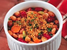 Cider Baked Beans chock full of #veggies and great for the #slowcooker