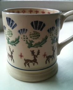 Thistle & Deer 0.5 Pint Mug (Brora Exclusive) 1997 (Discontinued)
