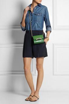 Diane von Furstenberg|440 Micro Mini leather shoulder bag|NET-A-PORTER.COM