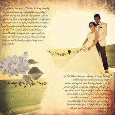 Wedding Vow Bride and Groom  Wall Decor Photo by PicturePerfect88, $25.00. want to DYI only better