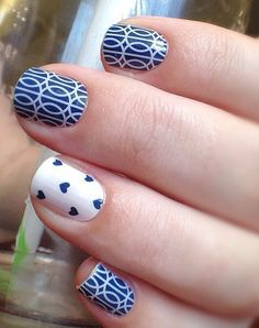 Jamberry Manicure with 'Mad Mod' and 'Puppy Love'. #nails #art #jamberry #puppy #mod http://www.luvmyshields.jamberrynails.net/