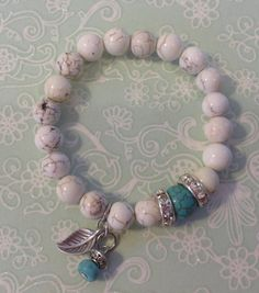 Round Magnesite cream 9mm beads with a by CharmingOddsAndEnds, $20.00