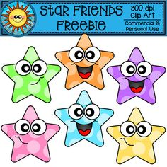 These cute stars with faces are sure to brighten up all your resources! Included in this set are 2 different designs of stars in 6 colors.Plus black and white copies, for a total of 8 clip art pieces! These images can be used for personal, educational and commercial use. No extra licenses need be pu...