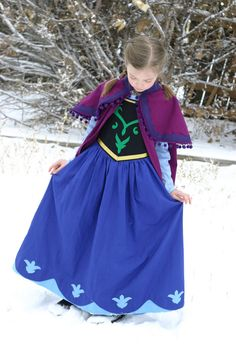 Princess Anna from Frozen Dress/Costume by wonderfullymade139